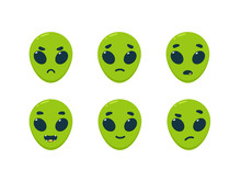 The Emoticon Of Green Alien - ...