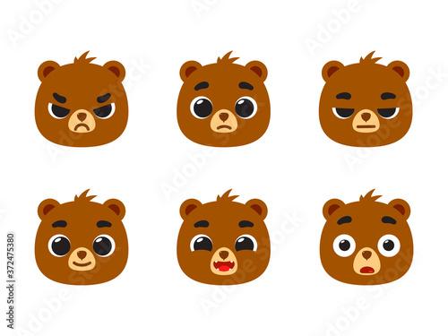 The emoticon of brown bear - Feedback emoticon smiley. Tableau sur Toile