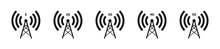 Network Tower Vector Icon Set....