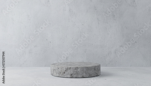 Minimal 3d rendering scene with composition empty cylinder podium for product and abstract background Fototapet