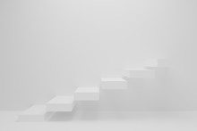 Ascending White Stairs Of Risi...