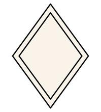 Black Ornament Frame In Diamond Shaped Design Of Decorative Element Theme Vector Illustration