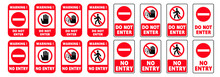 Stop Halt Allowed Do Not Enter...