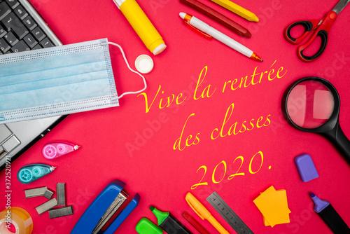 Fotografija Vive la rentrée des classes 2020, avec protections contre le coronavirus