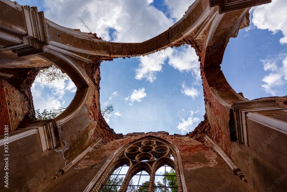 Fototapeta Ruiny kościoła Św. Antoniego w Jałówce, Podlasie, Polska