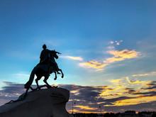 Bronze Horseman Monument Illum...