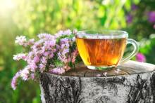 Mug Of Healthy Herbal Tea With...