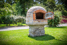 Traditionnal Stone Oven In A Garden