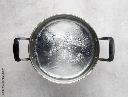 Obraz na płótnie cooking pot of boiling water