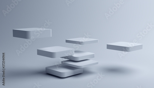 Foto Abstract 3d render, modern geometric background, graphic design