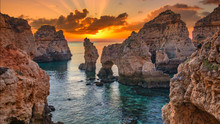 Sunrise Over Stunning Cliffs A...