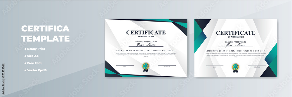 Fototapeta Creative Certificate of Appreciation Award Template