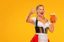 Young Sexy Oktoberfest Girl Wa...