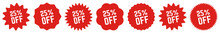 25 Percent OFF Discount Tag Re...