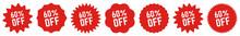 60 Percent OFF Discount Tag Re...