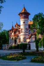 Germany, Bavaria, Upper Bavaria, Herrsching Am Ammersee, Kurparkschlosschen Built By Painter Ludwig Scheuermann In 1888