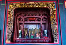 Taiwan, Kinmen, Jinsha, Small Shrine In Kinmen Folk Culture Village