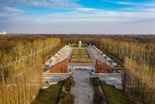 Germany, Berlin, Aerial View Of Treptower Park Soviet War Memorial In Autumn
