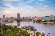 Egypt, Cairo, Nile,TahrirSquare And Garden City