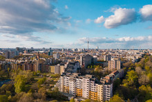 Germany, Berlin, Aerial View Of Kreuzberg District With Fernsehturm Berlin In Background