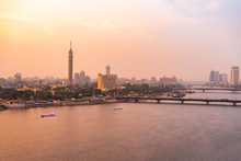 Egypt, Cairo, Nile With The Ca...