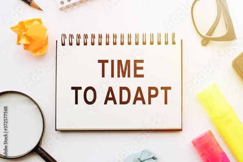 Obraz na plátně Text - Time To Adapt