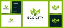 Building Eco City Logo And Business Card