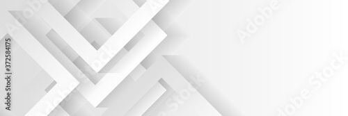 Photo Grey white abstract background geometry shine and layer element vector for presentation design