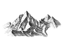 Mountain With Pine Trees And L...
