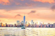 Skyline Of Lower Manhattan Of ...