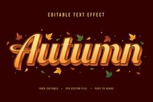 Decorative Autumn Font And Alphabet Vector