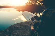 Women Tourists Read Book In Th...