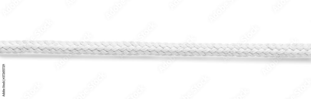 Fototapeta Long rope on white background