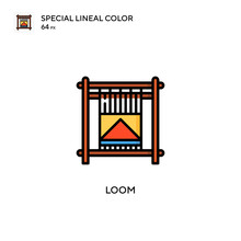 Loom Special Lineal Color Vector Icon. Illustration Symbol Design Template For Web Mobile UI Element.