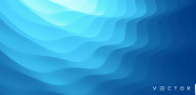 3D Wavy Background With Ripple...