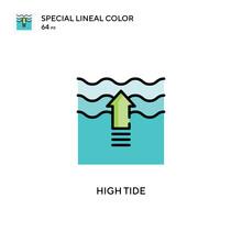 High Tide Special Lineal Color Vector Icon. Illustration Symbol Design Template For Web Mobile UI Element.