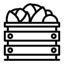 Vegetables Box Icon. Outline V...
