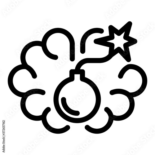 Bomb tension icon Wallpaper Mural