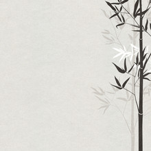 Bamboo Drawn With Ink On Japan...