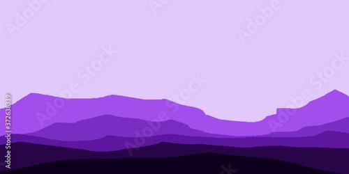 Mountain scenery landscape vector illustration background wallpaper Fototapet