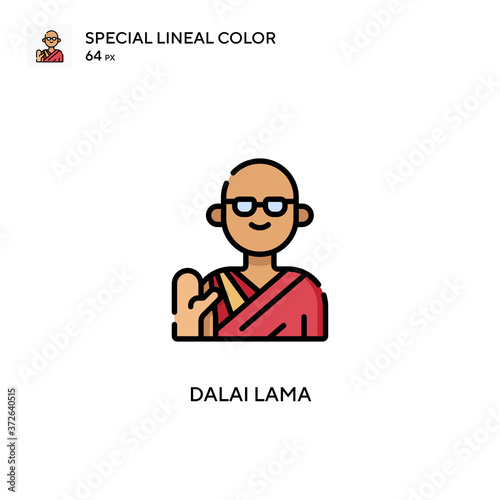 Photo Dalai lama Special lineal color vector icon