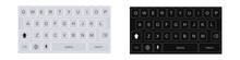 Smartphone Keyboard In Light A...