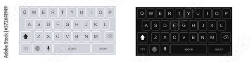 Fotografía Smartphone keyboard in light and dark mode