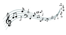 Musical Notes Stave Line Patte...