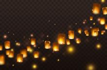 Lanterns Isolated On Transpare...
