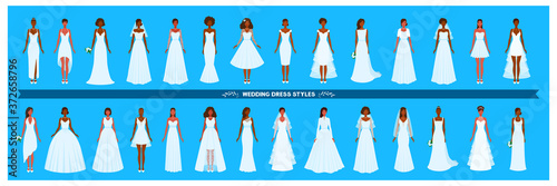Slika na platnu Wedding dress collection