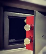 Red Door Of A Steel Safe. The ...