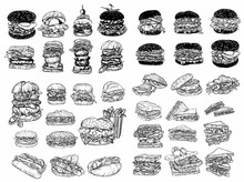 Raster Fast Food Illustrations...
