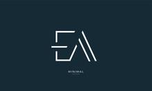 Alphabet Letter Icon Logo EA