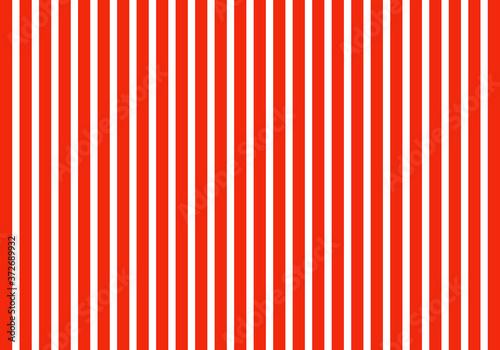 Estampado de rayas rojas y blancas verticales Canvas Print